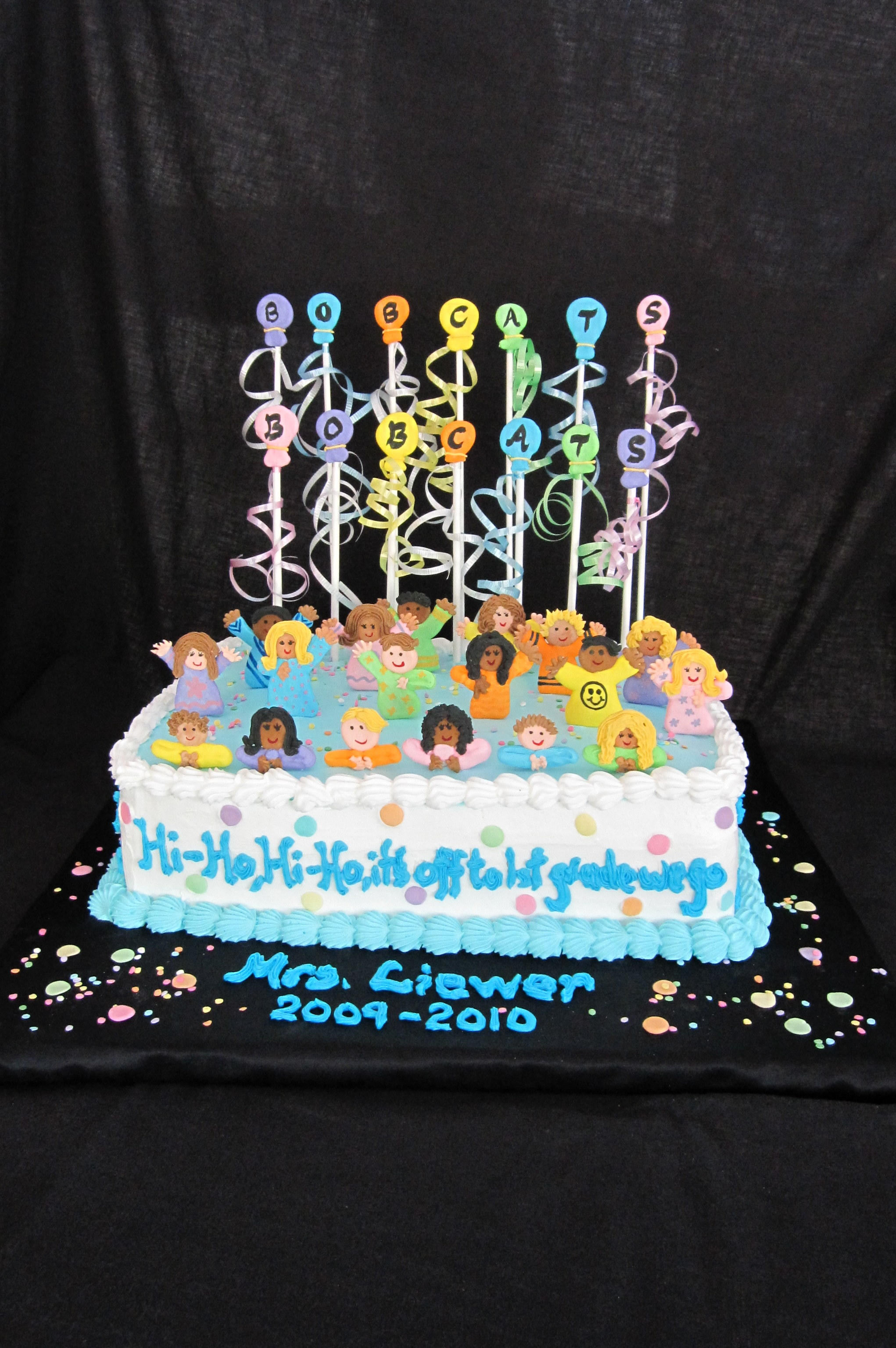 Emmy's kindergarten pool party cake