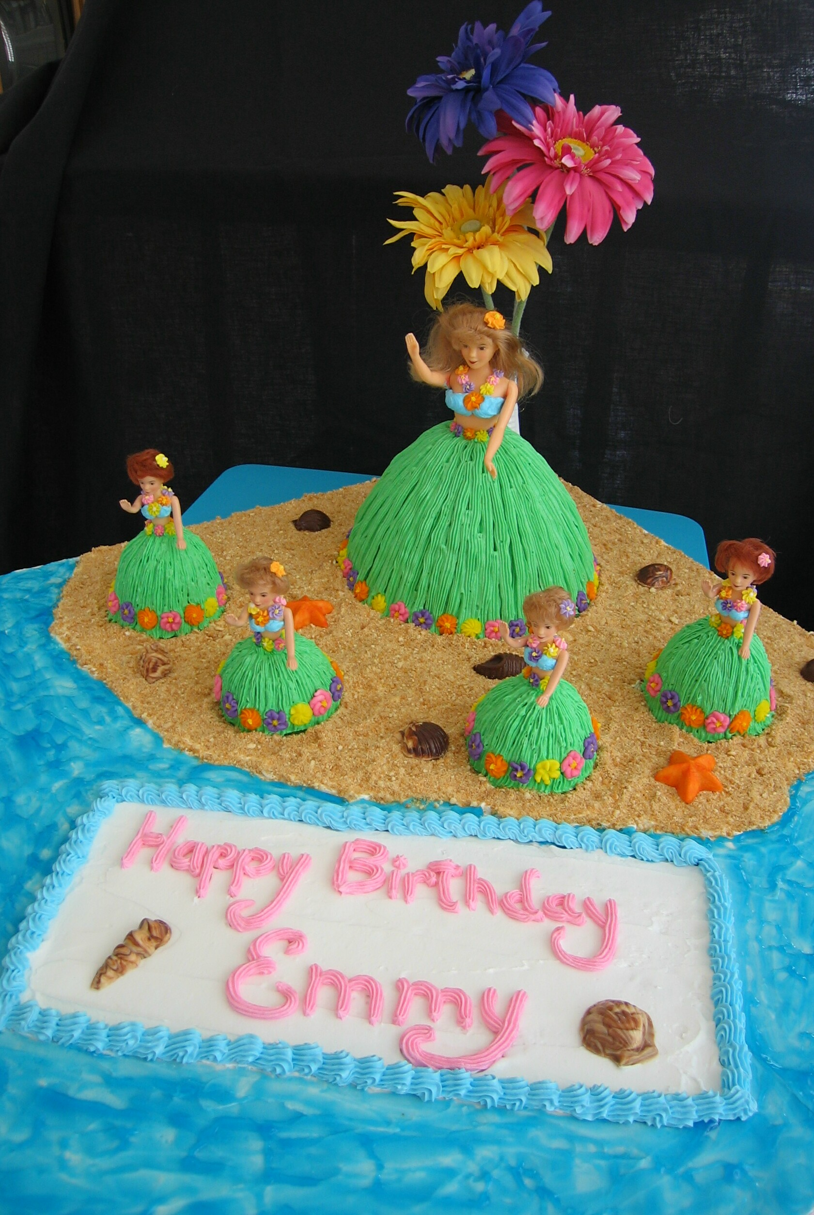 Hula Girl Cakes - Copy