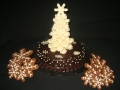 3329 Chocolate truffle snowflake cake