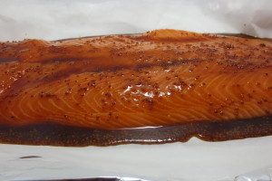 Maple Syrup & Brown Sugar Glazed Salmon
