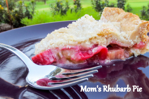 Rhubarb Pie-