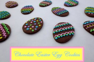 Chocolate Easter Egg CookiesA