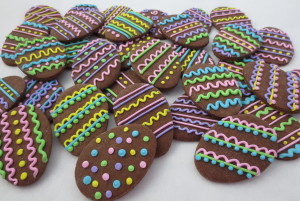 Chocolate Easter Egg Cookies