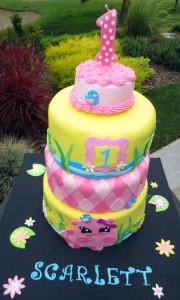 Pink Hippo Birthday Cakes