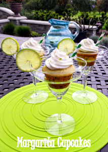 Lime cupcakes have a zingy zest to them from hits of tequila and triple sec. These margarita cupcakes will be a hit at your next party!