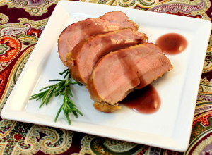 Smoked Pork Tenderloin with Port Wine Sauce