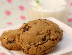 Hazelnut Triple Chocolate Chip Cookies