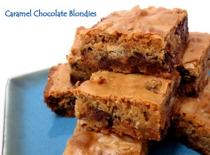Caramel Chocolate Blondies