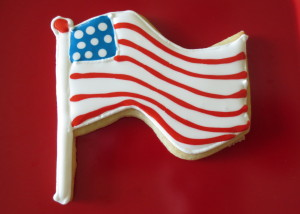 4th of July Flag Cookie