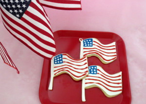 Patriotic Flag Cookies