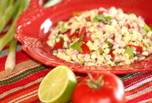 Onion, Corn & Tomato Salad