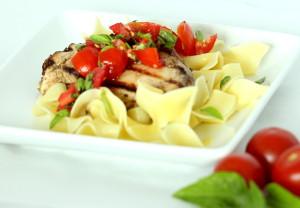 Chicken with Bruschetta Sauce