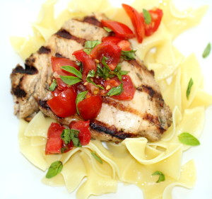 Chicken with Bruschetta Sauce