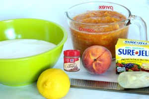 peach jam ingredients
