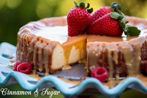 Ultra creamy and rich, Caramel Cheesecake can easily be made gluten-free if necessary. The Caramel sauce is surprisingly easy to make and is so decadent you just might want to keep some on hand for other desserts.