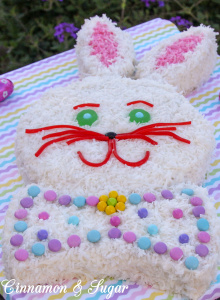 Supremely moist and full of tropical flavor, this from-scratch coconut cake will make some bunny very happy be it for Easter or any special occasion!