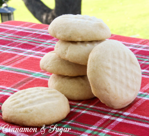 Four simple ingredients create buttery Scottish shortbread cookies that melt in your mouth! From a Scottish family's treasured recipe passed down for generations!