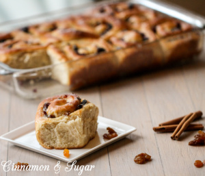 An iconic British recipe, Chelsea Buns combine raisins, cranberries, & sultanans with a rich yeast dough, flavored with cinnamon and lemon zest.