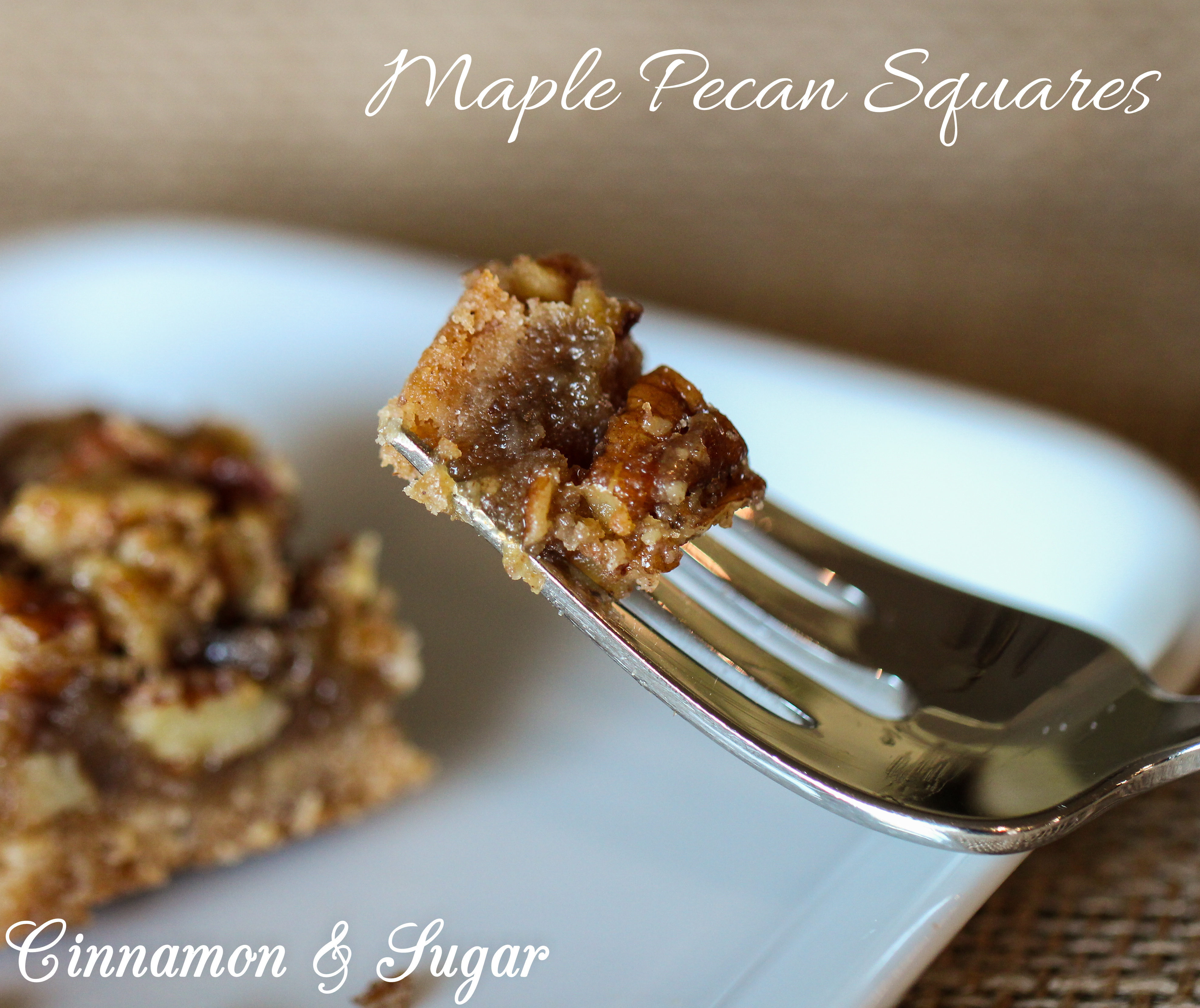 pecan based shortbread crust. Rich and satisfying Maple Pecan Squares ...