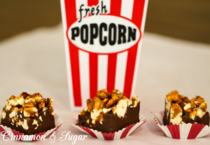 Popcorn Fudge combines amazing crunchy caramel corn on top of a thick layer of fool-proof creamy, rich fudge which boasts a hint of spiciness. Recipe shared with permission granted by Kristi Abbott, author of KERNEL OF TRUTH.
