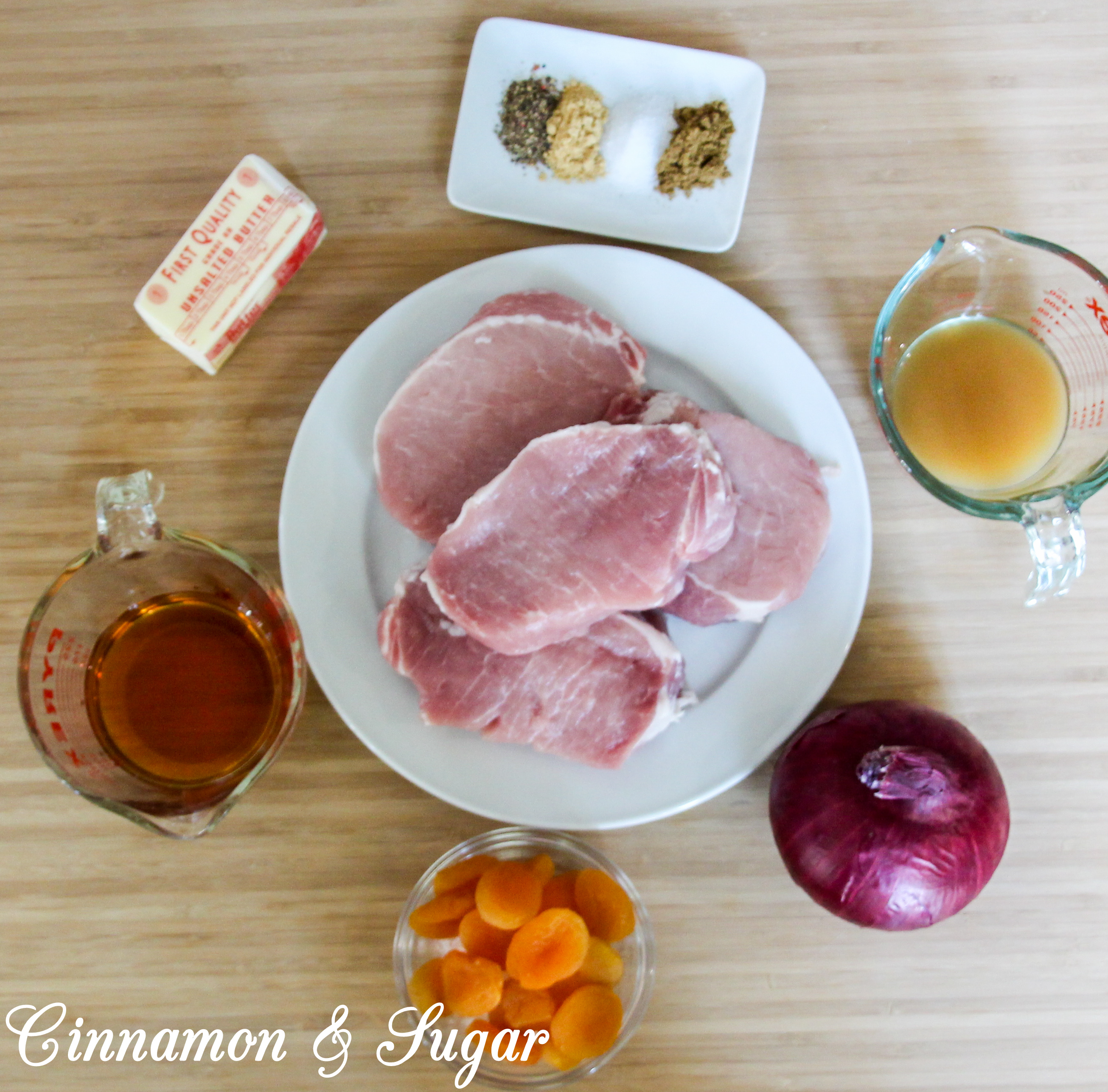 Seared Pork Chops with Apricot Brandy Sauce - Cinnamon and ...