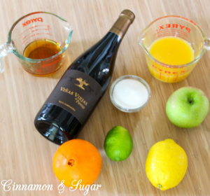 With dark red wine complimenting the colors & flavors of oranges, lemons, limes and bright green apples, Sangria is a celebration on your taste buds!