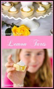 Sweet-tart lemony filling nestled in mini shortbread crusts make these Lemon Tarts the perfect size to serve for a light dessert or afternoon tea. Recipe shared with permission granted by Krista Davis, author of THE DIVA SERVES HIGH TEA.