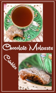 Warm spices & chocolate chips in a chewy cookie base creates amazing Chocolate Molasses Crinkles! These are sure to become your new favorite cookie!