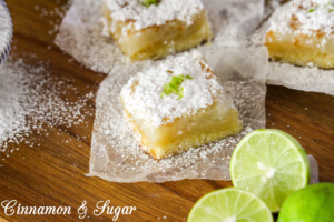 Kevin's Key Lime Bars combines tart key lime filling with a flaky shortbread crust to create a dessert that will make you feel like you're in the tropics!