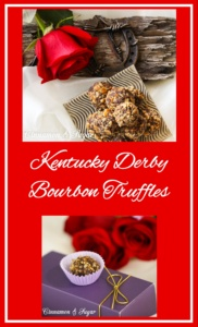 Kentucky Derby Bourbon Truffles combine creamy dark chocolate with crunchy shortbread, smooth bourbon, and buttery pecans for a candy you won't soon forget!