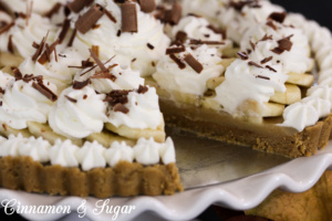 Classic Banoffee Pie is a traditional English dessert which combines bananas, toffee, and sweet whipped cream. It is certain to satisfy any sweet-tooth!