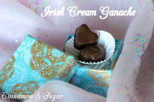 Irish Cream Ganache is a decadently rich candy. Dark chocolate is infused with the smooth flavor of Irish Cream for a surprisingly easy to make dessert.