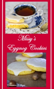 Missy's Eggnog Cookies are so simple to make even a beginning cook will wow their friends and family with this very easy but delicious holiday treat!