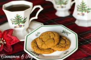 Vicki's Molasses Spice Cookies are delicious treats that bring an incredibly delightful smell to your kitchen and will instantly put you in the holiday mood