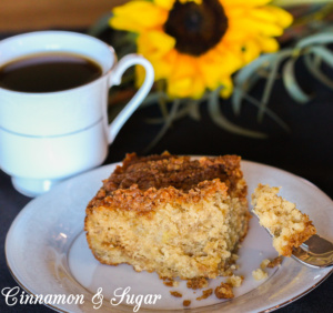 Using pantry staples, Bananas Foster Coffee Cake a la Ninette is a delectable breakfast or snack treat that will have you dreaming of the bayou!