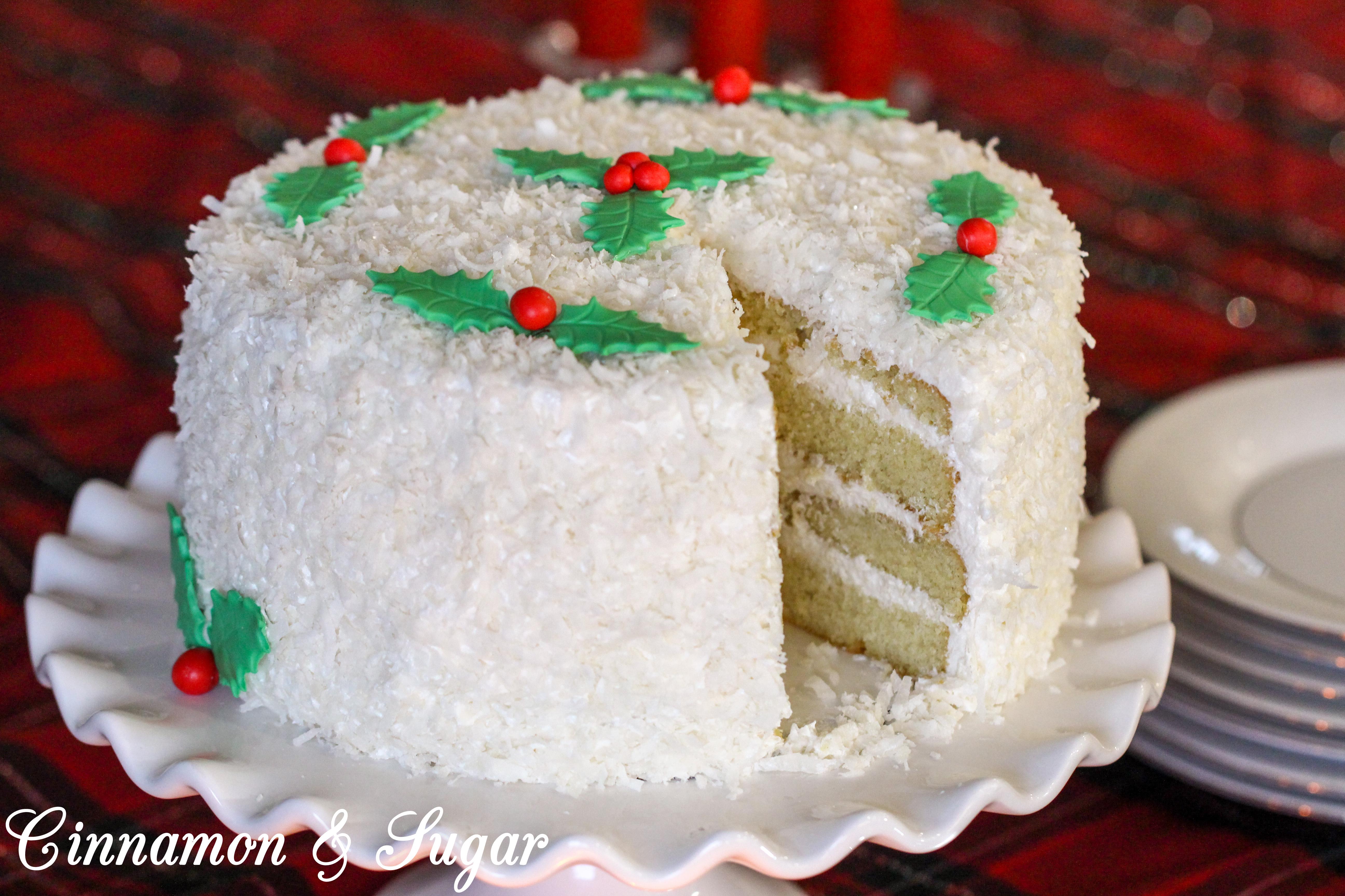 Bella's Old-fashioned Coconut Cake - Cinnamon and Sugar