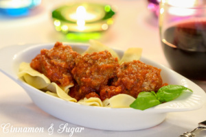 Matthew's Crock-pot Marinara Meatballs takes the hassle out of making meatballs by utilizing the crock-pot and a blender for a delicious homemade meal.