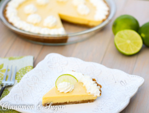 LA Lime Pie utilizes 3 simple pantry and fridge staples to fill a graham cracker crust. The resulting pie is a luscious dessert that will become a favorite!