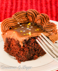 Chocolate Spice Cake with mocha frosting mixes up quickly with minimal cleanup. Delicate, moist, flavorful crumb, this vegan cake will become a favorite!