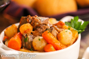 Recipe was handed down to the author by her grandmother. Hearty & full of flavor, this Beef Stew will satisfy appetites, providing warmth and nourishment!