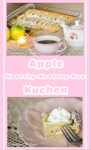 Apple Kootchy-Kootchy-Koo Kuchen is a perfect for large gatherings for either breakfast, coffee break, or served with ice cream for dessert.
