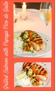 Grilled Salmon with Papaya & Avocado Pico de Gallo is a tropical twist on an elegant, easy dinner. Perfect for casual dining or for impressing guests.