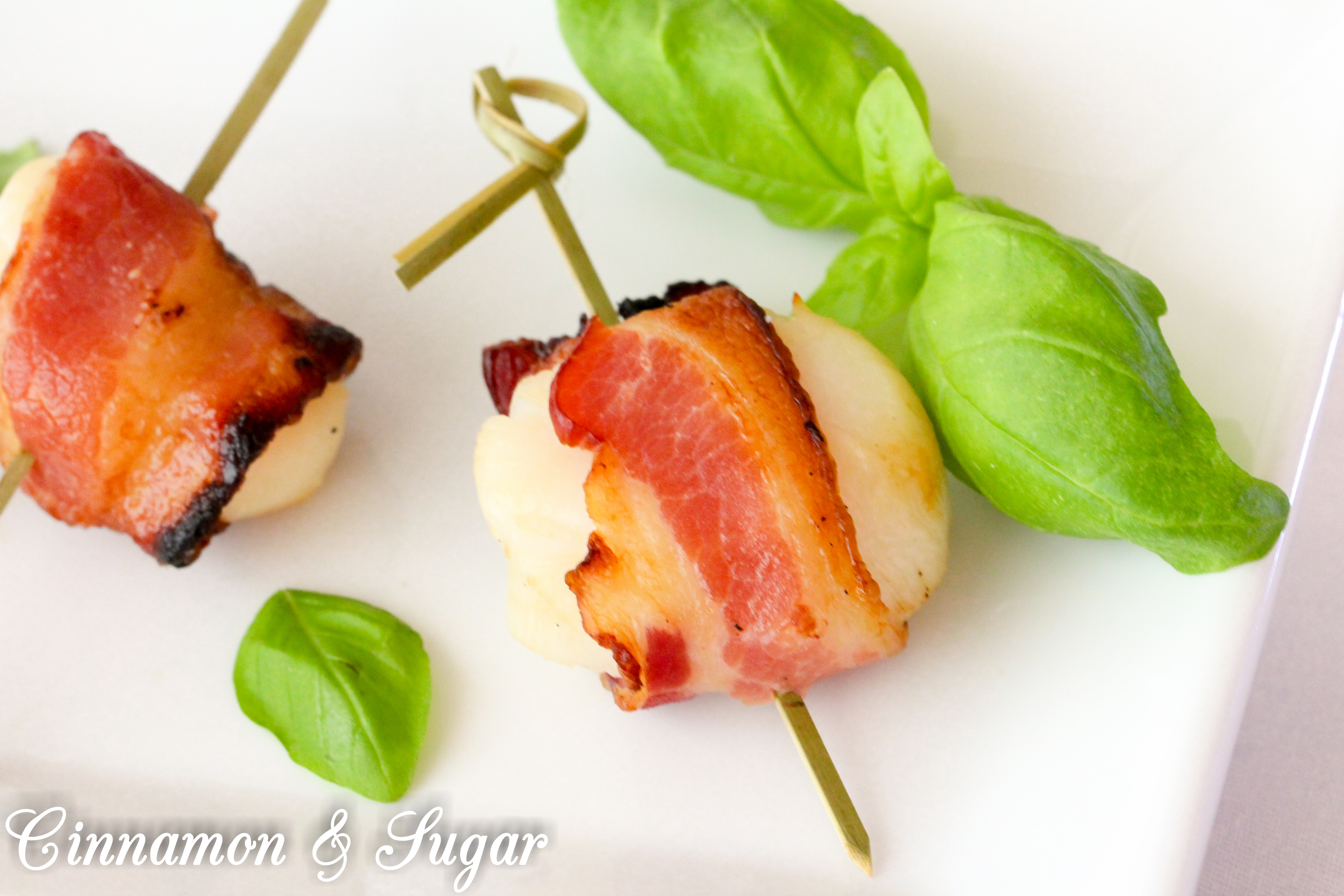 Scallops with Maple-Glazed Bacon - Cinnamon and Sugar