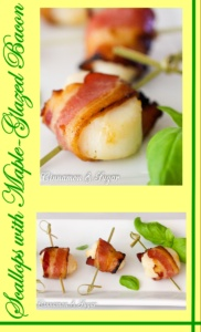 Scallops with Maple-Glazed Bacon are quick to assemble with simple ingredients, yet results in an elegant, delicious appetizer for any party or meal!