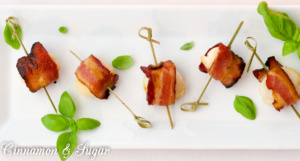 Scallops with Maple-Glazed Bacon are quick to assemble with simple ...