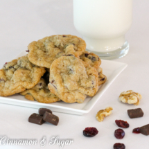 Cranberry Walnut Chocolate Chunk Cookies-13