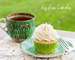 Key Lime Cupcakes are tender and moist, flavored with lime zest while the generous amount of rich buttercream tops them off with a zingy creaminess.
