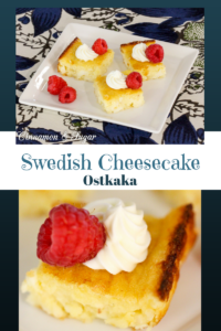 Simple to make and not at all fussy, Swedish Cheesecake, Ostkaka, relies on cottage cheese and almond flour for a unique texture and delicate flavor.