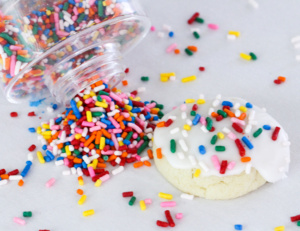 Quick No-Chill Sugar Cookies uses plenty of vanilla for flavor and bake up soft. Perfect with a cup of hot tea or coffee, or add fun frosting & sprinkles.