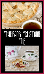 Flaky and buttery crust, fresh ruby red rhubarb with a silky sauce creates a delectable spring and summer dessert in this Rhubarb Custard Pie family recipe.